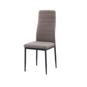 TEMPO KONDELA Coleta Nova jedálenská stolička hnedá / čierna