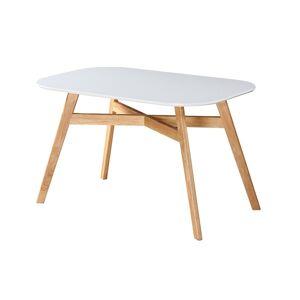 TEMPO KONDELA Cyrus New jedálenský stôl biela / prírodná
