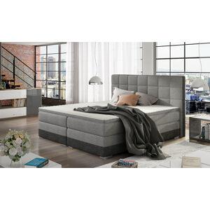 NABBI Dalino 160 čalúnená manželská posteľ s úložným priestorom svetlosivá (Sawana 21) / sivá (Sawana 05)
