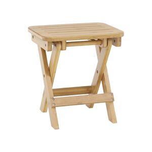 KONDELA Denice rozkladacia stolička bez operadla bambus