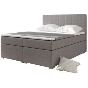 NABBI Diana 160 čalúnená manželská posteľ s úložným priestorom svetlosivá