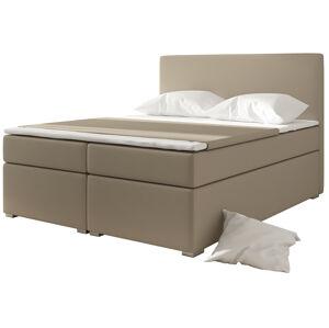 NABBI Diana 180 čalúnená manželská posteľ s úložným priestorom béžová
