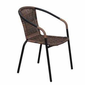 TEMPO KONDELA Doren záhradná stolička hnedá / čierna