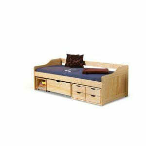 HALMAR Maxima 2 90 drevená jednolôžková posteľ s roštom borovica