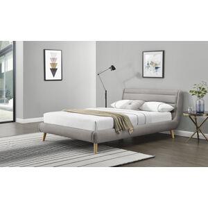 HALMAR Elanda 180 čalúnená manželská posteľ s roštom svetlosivá