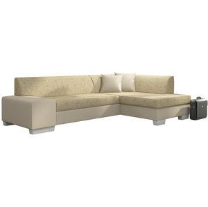 NABBI Ferol P rohová sedačka s rozkladom a úložným priestorom cappuccino / béžová
