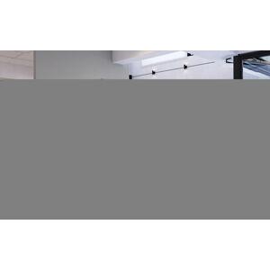 NABBI Folino 180 čalúnená manželská posteľ s roštom biela / čierna