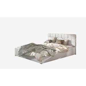 NABBI Galimo 140 čalúnená manželská posteľ s roštom biela