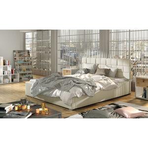 NABBI Galimo UP 200 čalúnená manželská posteľ s roštom béžová