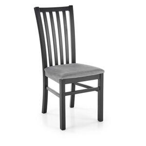 HALMAR Gerard 7 jedálenská stolička čierna / svetlosivá