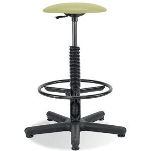 NABBI Goliat/Ring Base dielenská stolička s čalúneným sedákom pistácia