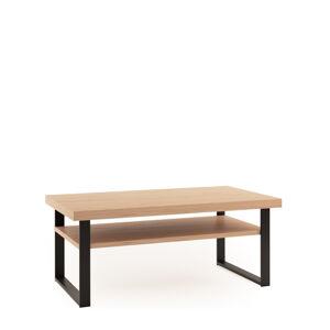 TARANKO Grande GR-S2 konferenčný stolík dub (Grande 01) / čierna