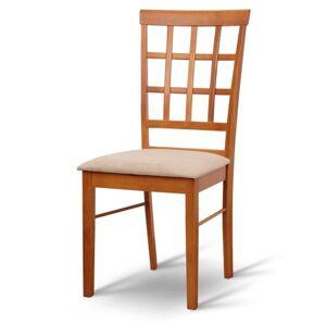 TEMPO KONDELA Grid New jedálenská stolička čerešňa / béžová