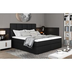 NABBI Grosio 165 čalúnená manželská posteľ s úložným priestorom čierna (Sawana 14)