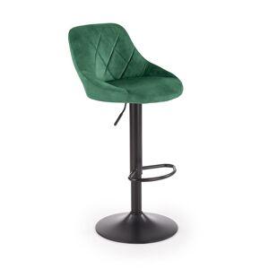 HALMAR H-101 barová stolička tmavozelená / čierna