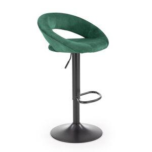 HALMAR H-102 barová stolička tmavozelená / čierna