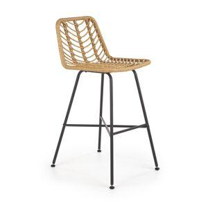 HALMAR H-97 barová stolička prírodná / čierna