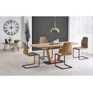 HALMAR Blacky rozkladací jedálenský stôl dub zlatý / čierna