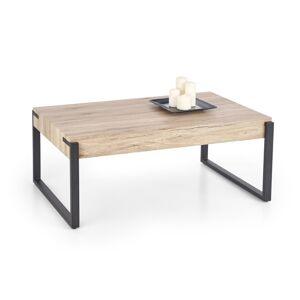 HALMAR Capri konferenčný stolík dub san remo / čierna