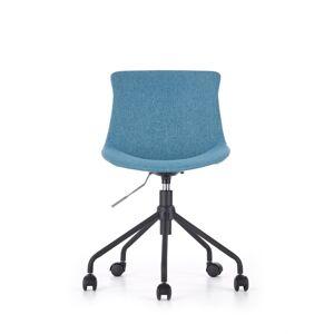 HALMAR Doblo detská stolička na kolieskach modrá
