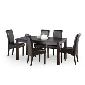 HALMAR Ernest 2 160/200 rozkladací jedálenský stôl wenge