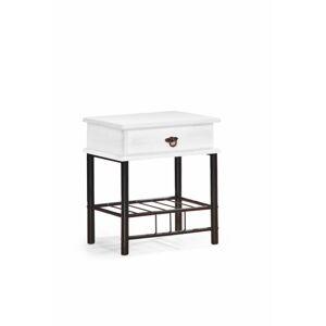 HALMAR Fiona nočný stolík biela / čierna