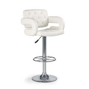 HALMAR H-37 barová stolička biela / chróm
