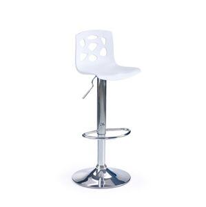 HALMAR H-48 barová stolička biela / chróm