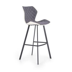 HALMAR H-83 barová stolička biela / sivá / čierna