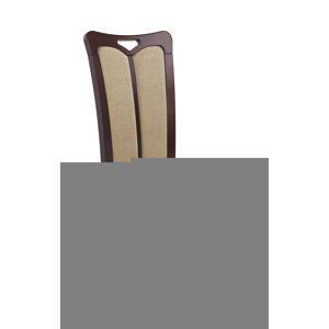 HALMAR Hubert 2 jedálenská stolička tmavý orech / béžová