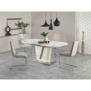 HALMAR Iberis rozkladací jedálenský stôl krémový lesk / sivý lesk