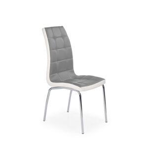 HALMAR K186 jedálenská stolička sivá / biela