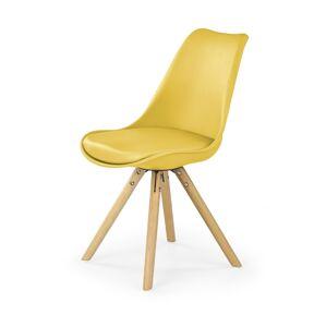 HALMAR K201 jedálenská stolička žltá / buk