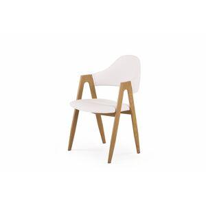 HALMAR K247 jedálenská stolička biela / dub medový