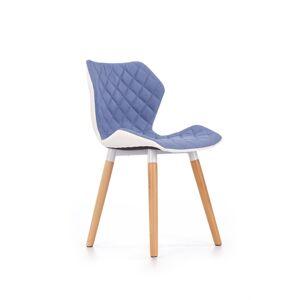 HALMAR K277 jedálenská stolička modrá / biela