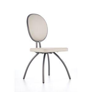 HALMAR K298 jedálenská stolička svetlosivá / grafit