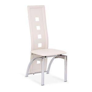 HALMAR K4 jedálenská stolička krémová / chróm