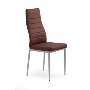 HALMAR K70 jedálenská stolička tmavohnedá