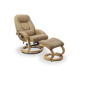 HALMAR Matador relaxačné kreslo s podnožkou béžová