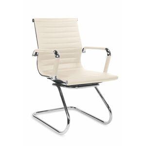 HALMAR Prestige Skid kancelárska stolička s podrúčkami krémová
