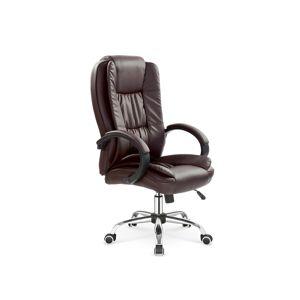HALMAR Relax kancelárske kreslo s podrúčkami tmavohnedá