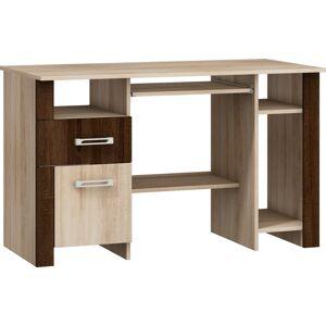 MEBLOCROSS Hugo HUG-01 pc stôl sonoma svetlá / sonoma tmavá