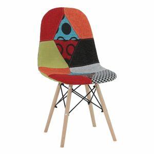 TEMPO KONDELA Candie 2 New Typ 2 jedálenská stolička vzor patchwork / buk