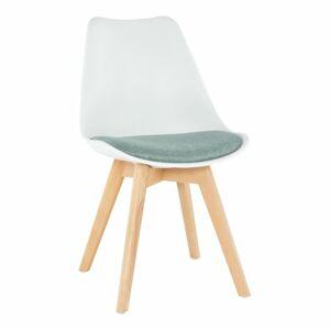 TEMPO KONDELA Damara jedálenská stolička biela / zelená / buk
