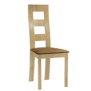 TEMPO KONDELA Farna jedálenská stolička svetlohnedá / dub medový