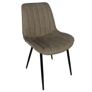 TEMPO KONDELA Hazal jedálenská stolička sivohnedá (taupe) / čierna