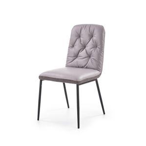 HALMAR K340 jedálenská stolička svetlosivá / sivá / čierna