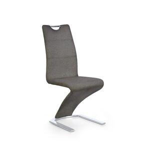 HALMAR K350 jedálenská stolička sivá / chróm