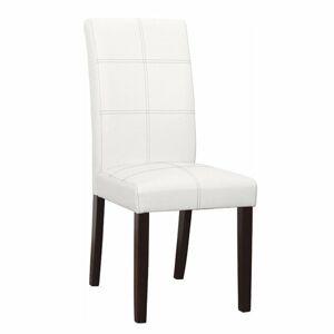 TEMPO KONDELA Rory 2 New jedálenská stolička biela / tmavý orech