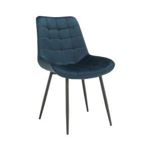 TEMPO KONDELA Sarin jedálenská stolička modrá / čierna